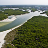 4K Aerial Views of Wiggins Pass and the Cocohatchee River