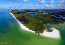 One Minute 4K HD Drone Flight Along Barefoot Beach Preserve in Naples, FL