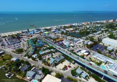 Aerial Video of the Matanzas Pass Bridge and Fort Myers Beach, FL