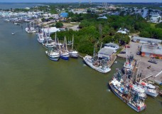 Aerial Video of the Fort Myers Beach Shrimp Boat Fleet