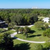 Aerial Video Footage of Koreshan State Historic Site, Estero FL