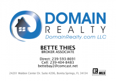 Bette Thies, Realtor, Broker Associate at Domain Realty in Bonita Springs, FL