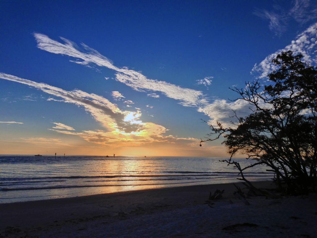 sunset barefoot beach preserve county park naples fl