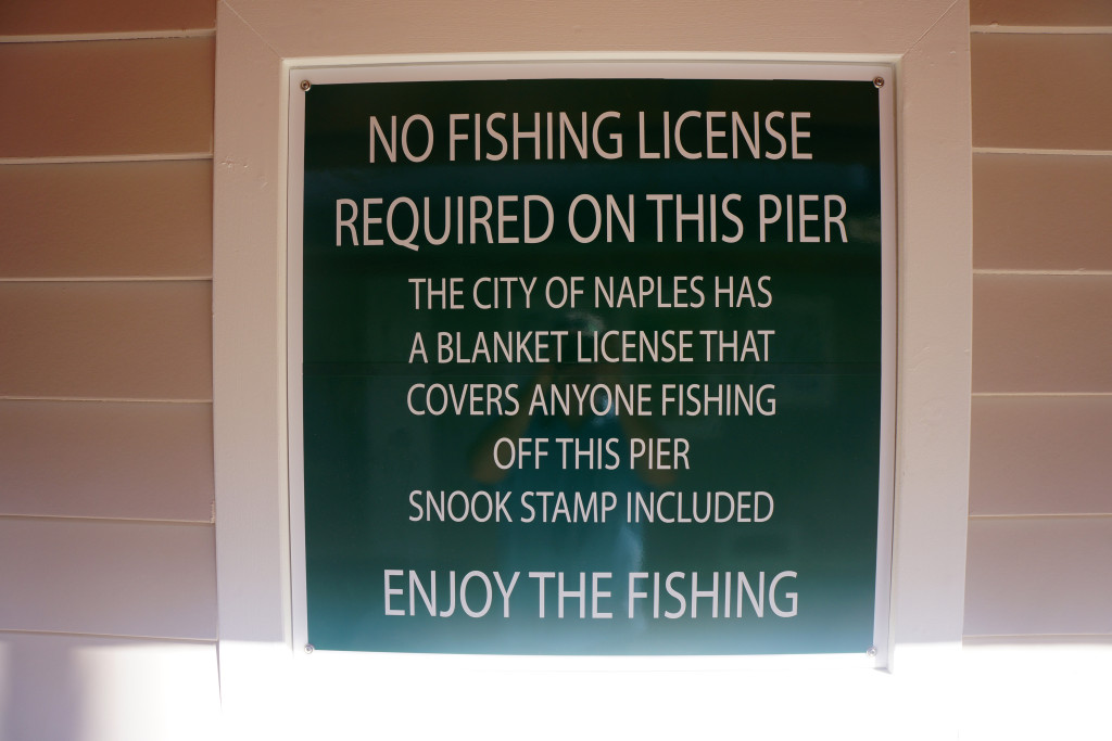 No fishing license required at the Naples Pier