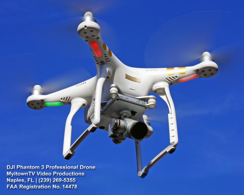 DJI Phantom 3 Professional Drone - MyitownTV Video Production - Naples, FL