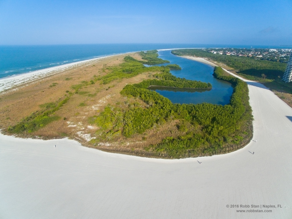 The state managed Big Marco Pass Critical Wildlife Area popularly known as the Sand Dollar Spit.
