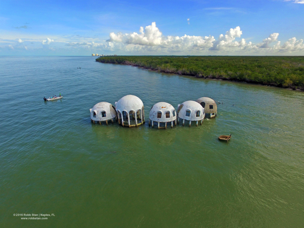 The abandoned dome house of Cape Romano.